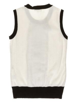 Жилет для дівчинки сірого кольору з атласною стрічкою