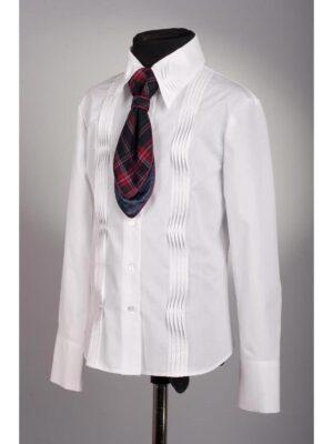 Блуза с длинным рукавом со складками для девочки 076 Велма