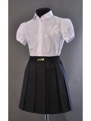 Школьная юбка темно-синего цвета для девочки 004