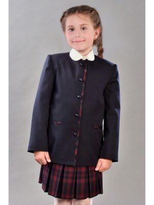Шкільний піджак для дівчинки синього кольору