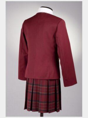 Шкільний піджак бордового кольору для дівчинки 120 Велма