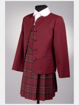 Школьный пиджак для девочки зеленого цвета