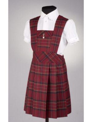 Сарафан для девочки школьный бордового цвета 119