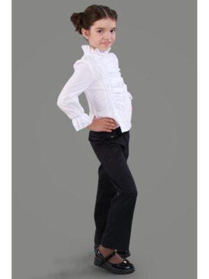 Школьные брюки черного цвета для девочки 114 Велма