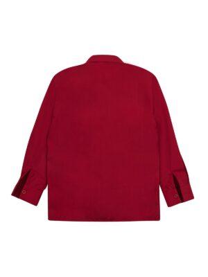 Рубашка для мальчика яркого вишневого цвета