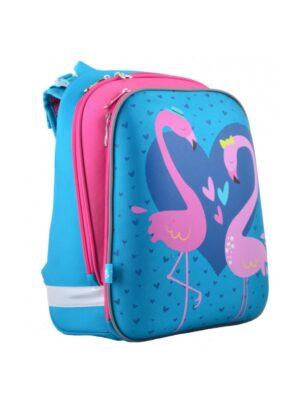 Рюкзак школьный для девочки с розовым фламинго