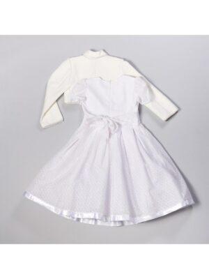 Платье для девочки нарядное белое с завышеной талией с болерком Celina