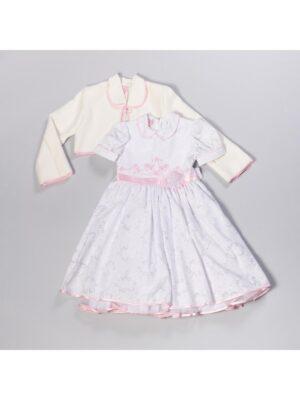 Платье с болеро для девочки с атласными розами Liliana