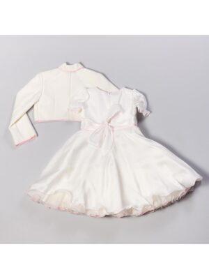 Платье для девочки белое с драпировкой с болерком Zosia