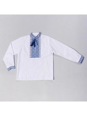 Вишиванка в блакитну вишивку для хлопчика Володя