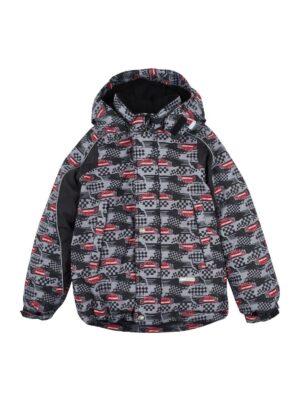 Куртка для хлопчика сіра з червоним Mobile Lenne