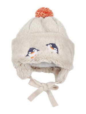 Зимняя шапочка для малыша бежевого цвета Duo