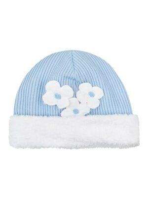 Зимняя шапочка для девочки голубово цвета Blanka