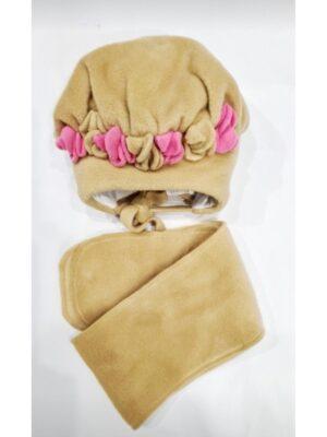 Зимняя шапочка для малыша молочного цвета Helenka