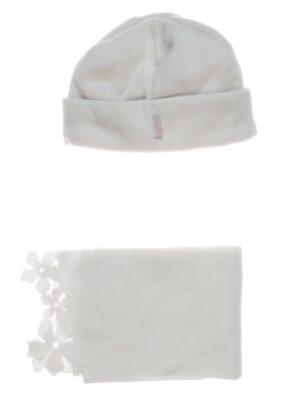 Зимовий комплект для дівчинки сірий з кремовими квітками Roxana