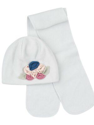 Зимовий комплект для дівчинки світло рожевий фліс Toscana
