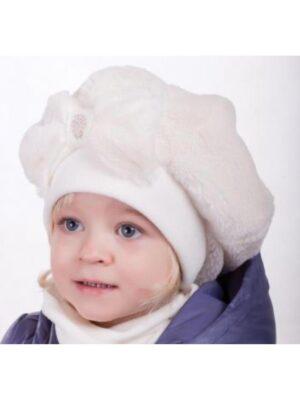 Зимовий комплект для дівчинки молочного кольору Viviena