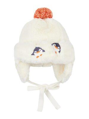Зимняя шапочка для малыша молочная Duo