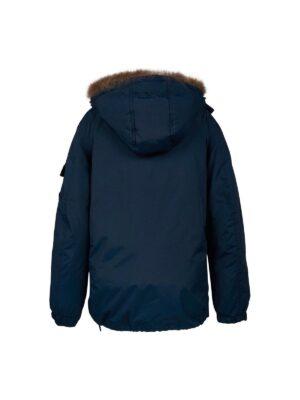 Куртка пуховик для хлопчиків підлітків синій
