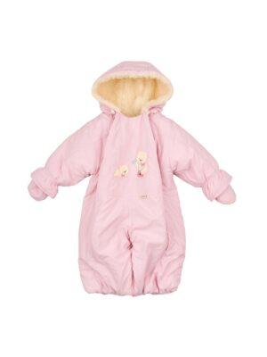 Комбинезон розового цвета на овчине для девочки Femeli
