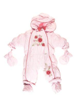 Комбинезон-трансформер для новорожденной девочки розовый деми Kwiatki