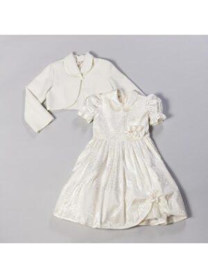 Платье с болеро для девочки нарядное кремового цвета Oliwia