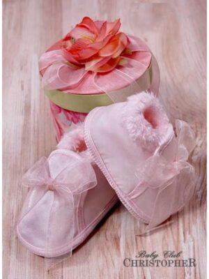 Пінетки сатинові рожевого кольору
