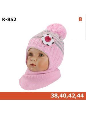 Зимовий комплект рожевого кольору для дівчинки