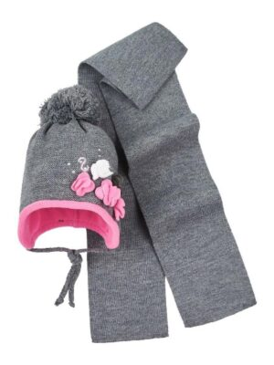 Комплект Зимовий для дівчинки сірого кольору