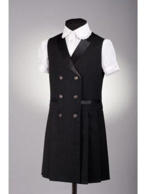 Сарафан для дівчинки шкільний чорного кольору 135