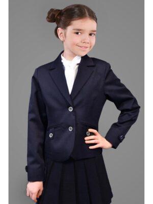 Шкільний піджак для дівчинки синього кольору 015