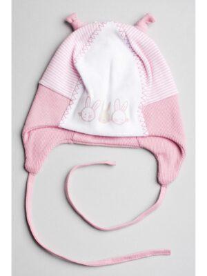Шапка на завязках для новорожденного малыша Kicek