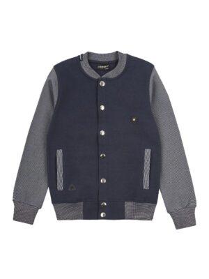 Бомбер для мальчика школьного возраста сине серый меланж 6292-s Cegisa