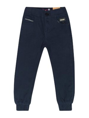 Штани для хлопчика утеплені сині на резинці пояс