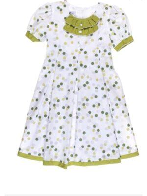 Платье для девочки хлопковое в горох Gosia
