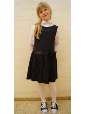 Сарафан для школьницы синего цвета Princesa