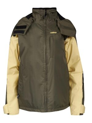 Куртка зимова для дівчинки жовто-оливкова