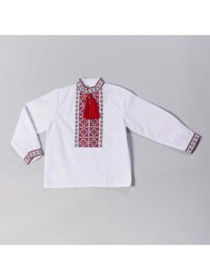 Вышиванка в красно черную вышивку для мальчика Володя