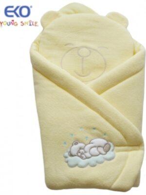 Конверт для новорожденного с подушкой мишкой желтый Mis