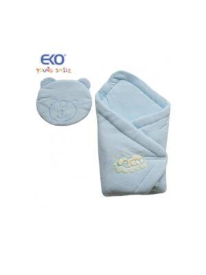 Конверт для новорожденного c подушкой мишкой голубой Mis