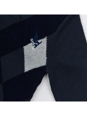 Свитер для мальчика сине серый со вставкой 5071 Delores
