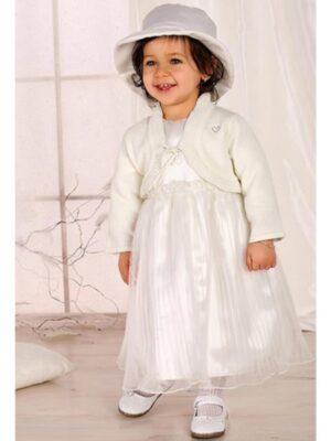 Ошатний комплект білого кольору для дівчинки