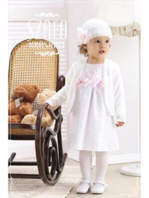 Нарядное детское платье белого цвета