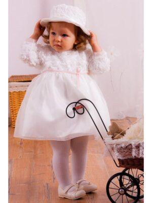 Нарядное платье для девочки со шляпкой
