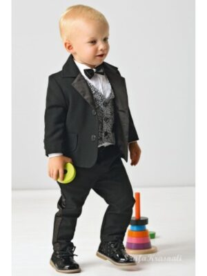 Костюм ошатний для хлопчика в стилі casual чорний