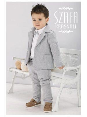 Ошатний костюм сірого кольору для хлопчика
