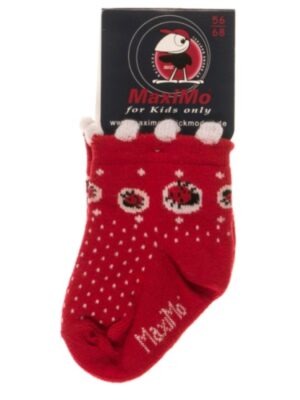 Дитячі шкарпетки з сонечками червоні