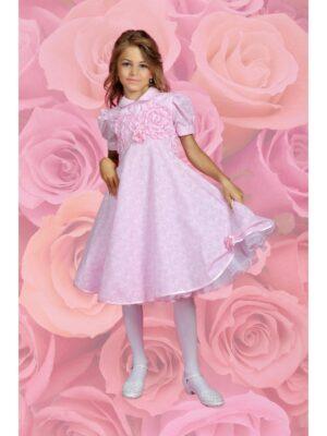 Платье нарядное для девочки выпускное розовое Liljana