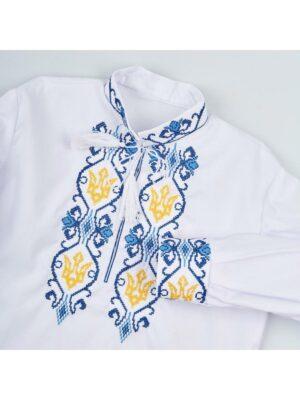 Вышиванка для мальчика с вышивкой Тризуб