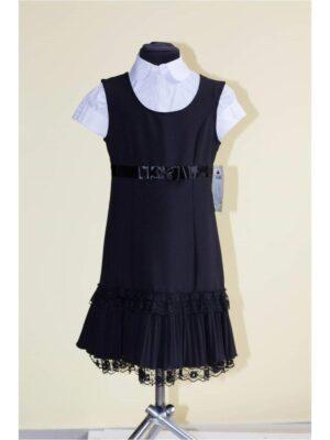 Сарафан для дівчинки шкільний чорного кольору Alicja